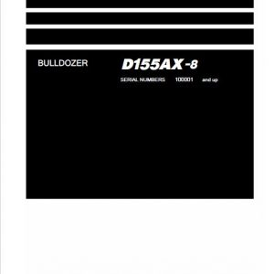 Komatsu DX155AX-8 Dozer Service Manual