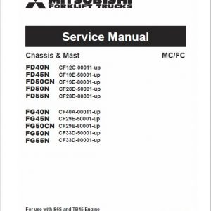 Mitsubishi FD40N, FD45N, FD50CN, FD50N, FD55N Forklift Service Manual
