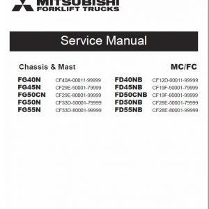 Mitsubishi FD40NB, FD45NB, FB50CNB, FD50NB, FD55NB Forklift Service Manual
