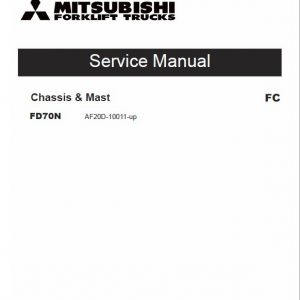 Mitsubishi FD70M Forklift Lift Truck Service Manual