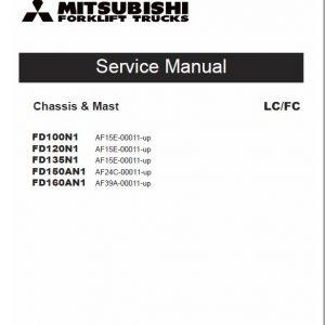 Mitsubishi FD100N1, FD120N1, FD135N1, FD150AN1, FD160AN1 Forklift Service Manual