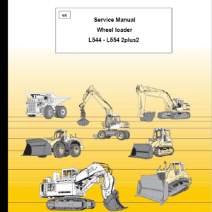 Liebherr L544, L554 2plus2 Wheel Loader Service Manual