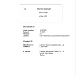 Liebherr L524 Type 1355 Wheel Loader Service Manual