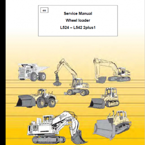 Liebherr L524, L528, L538, L542 Wheel Loader Service Manual