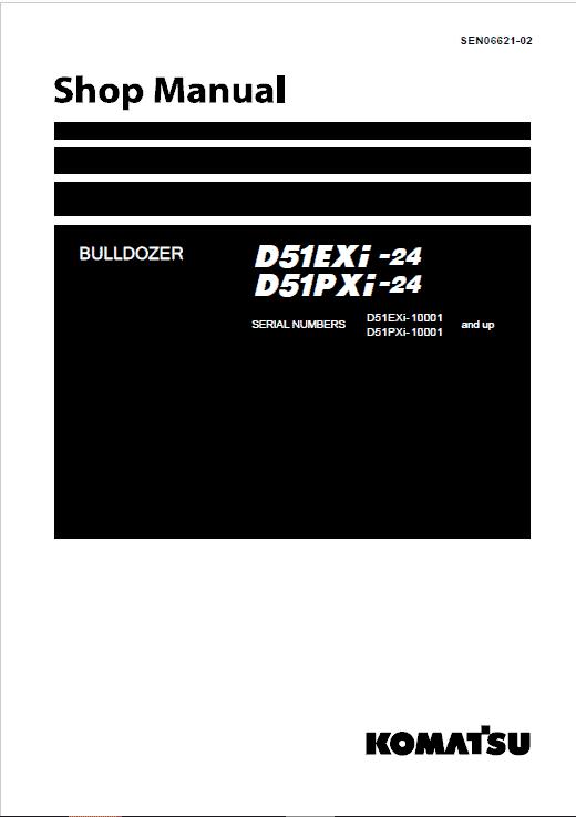 Komatsu D51EXi-24, D51PXi-24 Dozer Service Manual
