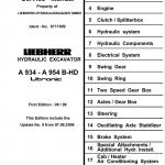 Liebherr A934, A934B, A944HD, A944B-HD, A954HD, A954B-HD Litronic Excavator Manual