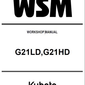 Kubota G21LD, G21HD Mowers Service Manual