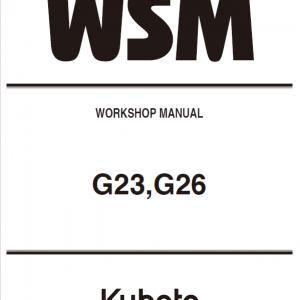 Kubota G23, G26 Mowers Service Manual