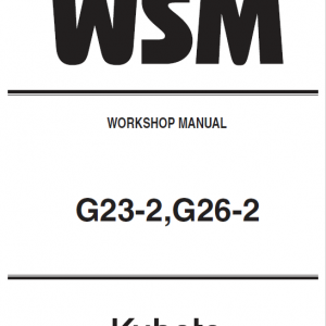 Kubota G23-2, G26-2 Mowers Service Manual