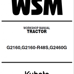 Kubota G2160, G2160-R48S, G2460G Mower Service Manual