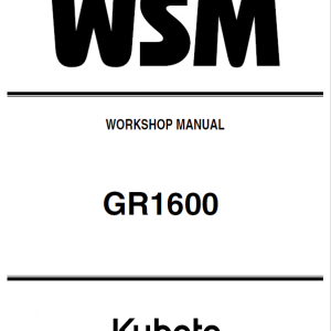 Kubota GR1600 Riding Mower Service Manual