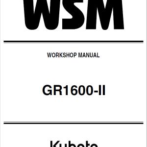 Kubota GR1600-II Riding Mower Service Manual