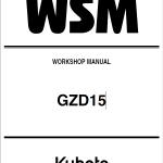 Kubota GZD15 Zero Turn Mowers Service Manual