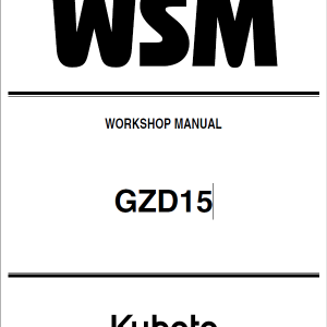 Kubota GZD15 Zero Turn Mowers Service Manual