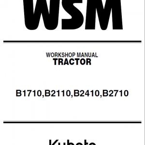 Kubota B1710, B1710D, B2110, B2110D, B2110DB, B2110HDB Tractor Manual