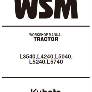 Kubota L3540, L4240, L5040, L5240, L5740 Tractors Service Manual