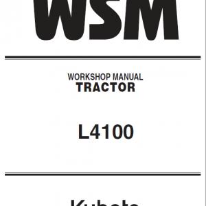 Kubota L4100 Tractor Service Manual