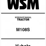 Kubota M108S Tractor Service Manual