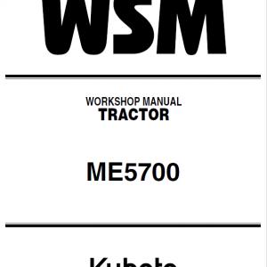 Kubota ME5700 Tractor Service Manual