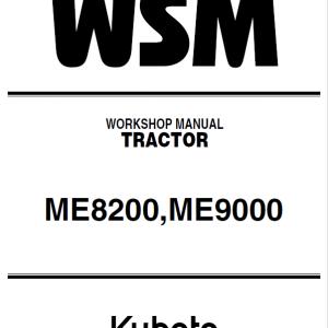 Kubota ME8200, ME9000 Tractor Service Manual