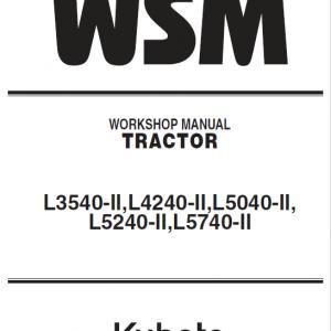 Kubota L3540-II, L4240-II, L5040-II, L5240-II, L5740-II Tractor Service Manual