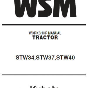 Kubota STW34, STW37, STW40 Tractor Service Manual