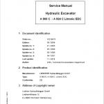 Liebherr A900C, A904C, A914C, A924C Litronic EDC Excavator Service Manual
