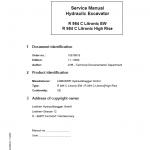 Liebherr R984C Litronic (High Rise & EW) Excavator Service Manual