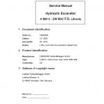 Liebherrr A900C ZW Litronic Tier 3 Excavator Service Manual