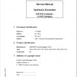 Liebherr A910, A912, A914, A918, R914 Compact Tier 4i Excavator Service Manual