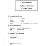 Liebherr A922 Rail Litronic Tier 4i Excavator Service Manual
