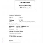 Liebherr A924 Rail Litronic Tier 4i Excavator Service Manual