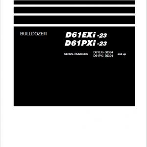 Komatsu D61EXi-23, D61PXi-23 Dozer Service Manual