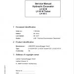 Liebherr LH60M, LH60M Timber, LH60C Tier 4i Excavator Service Manual