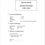 Liebherr R956, R960 SME, R966, R970 SME, R976, R980 SME Excavator Manual