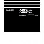 Komatsu D61EXi-24, D61PXi-24 Dozer Service Manual