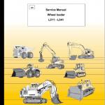 Liebherr L511, L521, L531, L541 Wheel Loader Service Manual