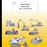 Liebherr L551 Wheel Loader Service Manual