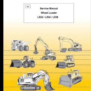 Liebherr L524, L534, L538 Wheel Loader Service Manual