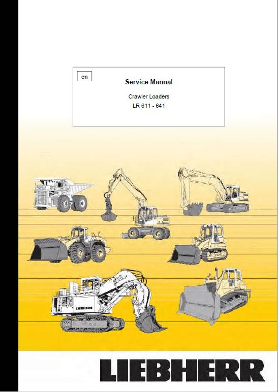 Liebherr LR 611, LR 621, LR 631, LR 641 Crawler Dozer Service Manual