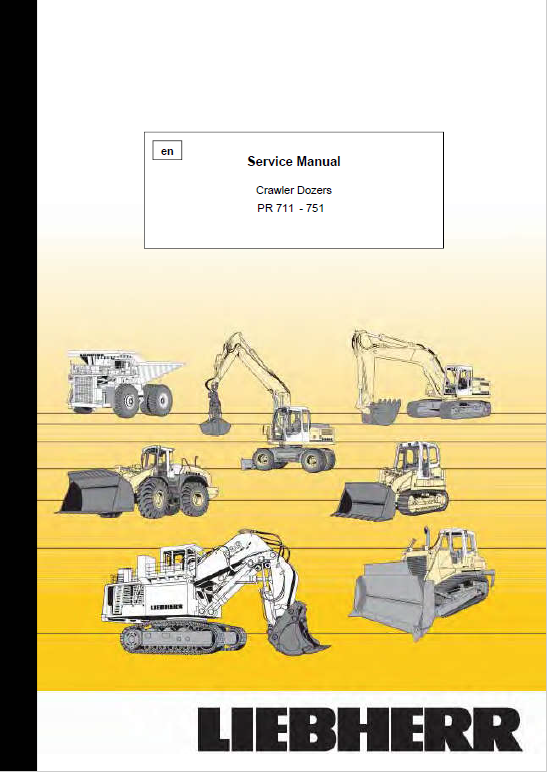 Liebherr PR 711, PR 721, PR 731, PR 741, PR751 Crawler Dozer Service Manual
