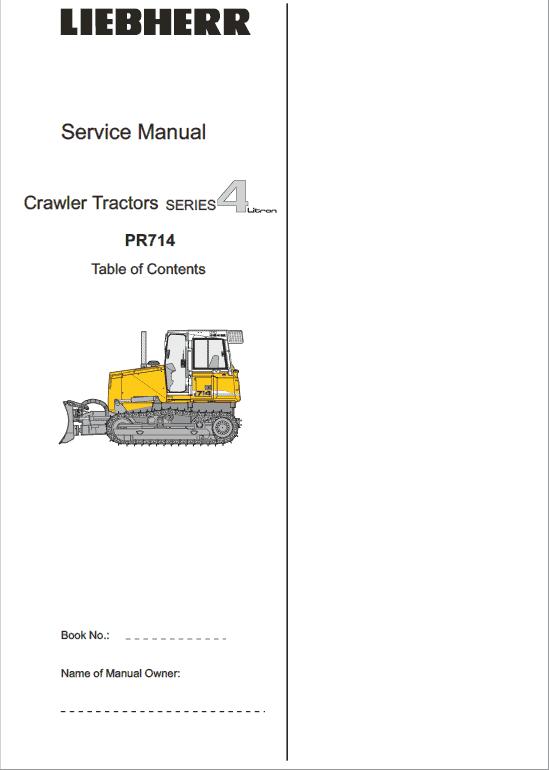Liebherr PR 714 Crawler Dozer Repair Service Manual