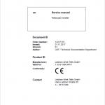 Liebherr T35-6 Telescopic Handler Service Manual