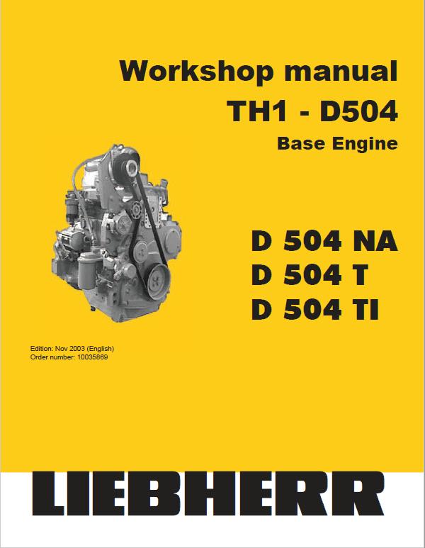 Liebherr D504 NA, D504 T, D504 Ti Engine Service Manual