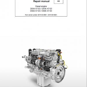 Liebherr D934 A7-03, D936 A7-03, D944 A7-03, D946 A7-03 Engine Service Manual