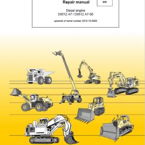 Liebherr D9512 A7, D9512 A7-00 Engine Service Manual
