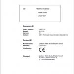 Liebherr L528 Type 1267 Wheel Loader Service Manual