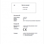 Liebherr L538 Type 1268 Wheel Loader Service Manual