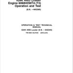 John Deere 524K 4WD Loader with Engine 6068HDW74 T3 Service Manual (SN. before 642245)