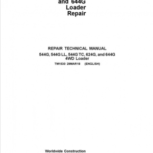 John Deere 544G, 544G LL, 544G TC, 624G, 644G Loader Service Manual